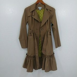 Antropologie coat retro bottom sash